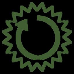 Icono de ciclo de sol