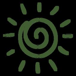 Sol, doodle, ícone