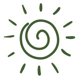 Sonne Gekritzel-Symbol