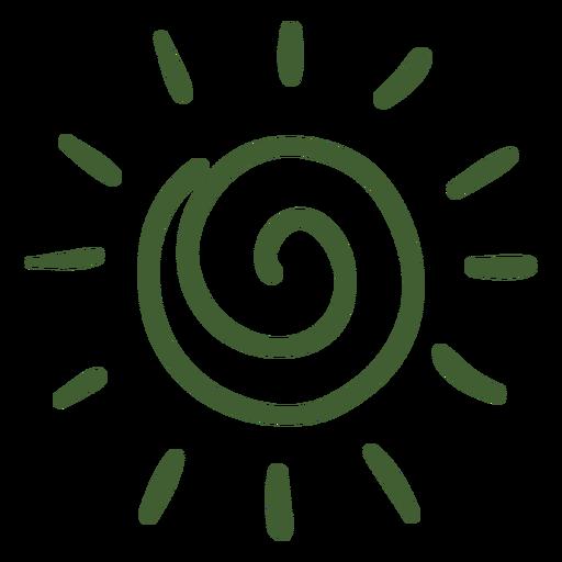 Icono de doodle de sol Transparent PNG