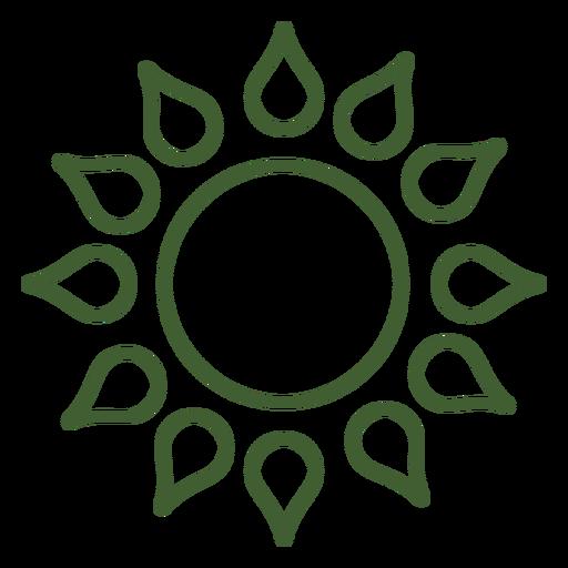 Sol sol de ícone de estrela Transparent PNG