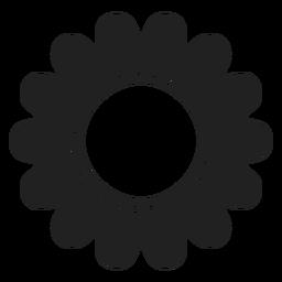 Icono de flor de girasol