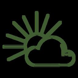 Sonnenschein-Symbol Sonne