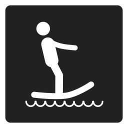 Surfing square icon