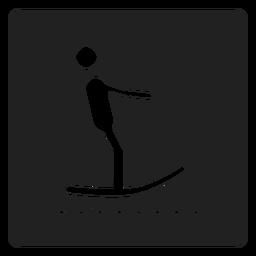 Surfing square icon