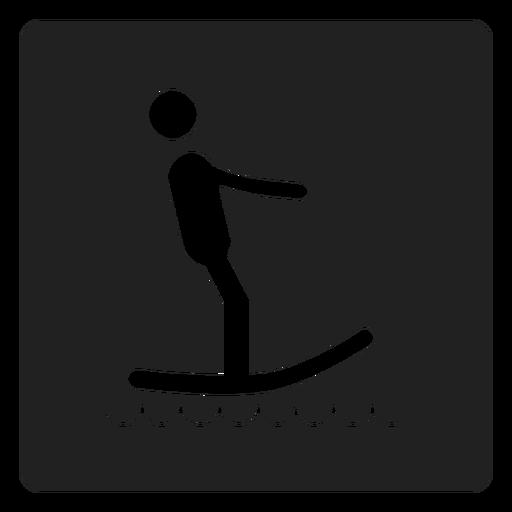 Surfando ícone quadrado Transparent PNG
