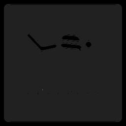 Icono cuadrado de natación