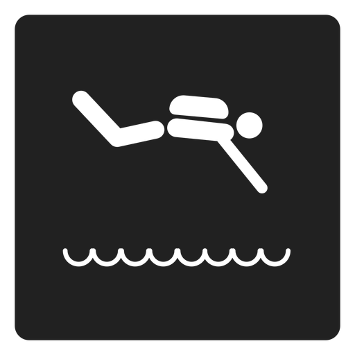 Swimming square icon swimming Transparent PNG
