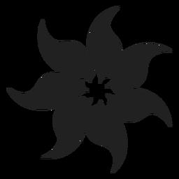Icono de flor de espuma de tiare tahitiano