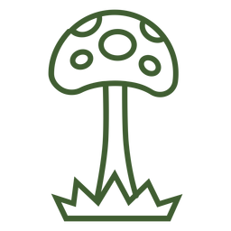 Ícone de cogumelo alto
