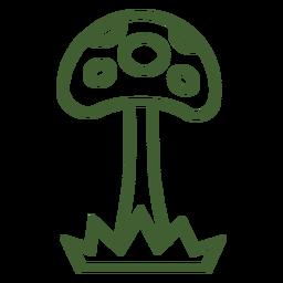 Tall mushroom icon