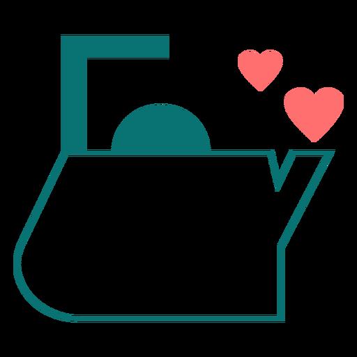 Tea love line style icon Transparent PNG