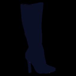 Silhueta de bota alta coxa