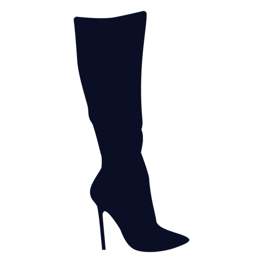 Thigh high boot silhouette Transparent PNG