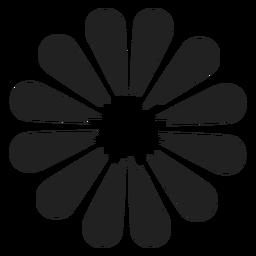Flor fina pétala ícone