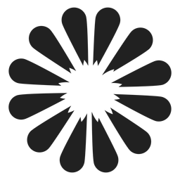 Icono de flor de pétalo fino