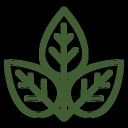 Icono de tres hojas