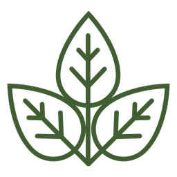 Three leaves icon