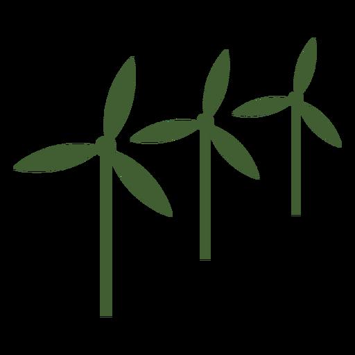 Three wind mills icon Transparent PNG