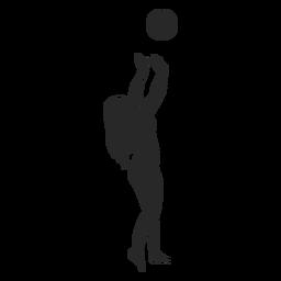Silueta de puesta de bola