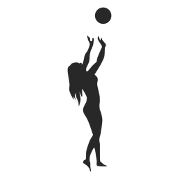 Toss ball setting silhouette