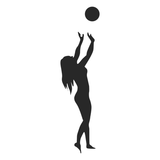Toss ball setting silhouette Transparent PNG