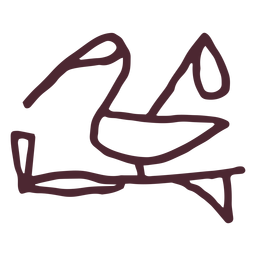 Traditional bird .hieroglyphics symbol
