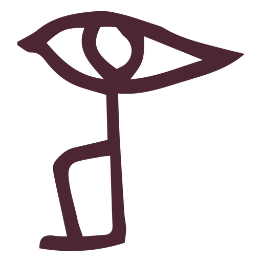 Traditional egyptian eye hieroglyphics symbol Transparent PNG