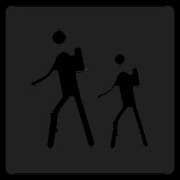 Trekking ícone quadrado