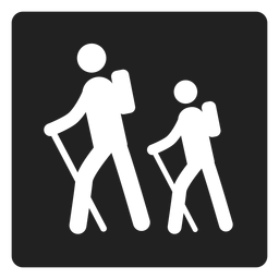 Trekking square icon
