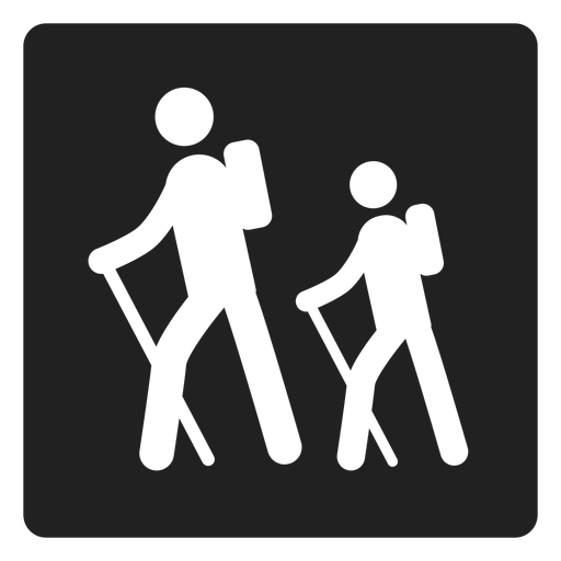 Trekking square icon Transparent PNG