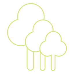 Tress line style icon