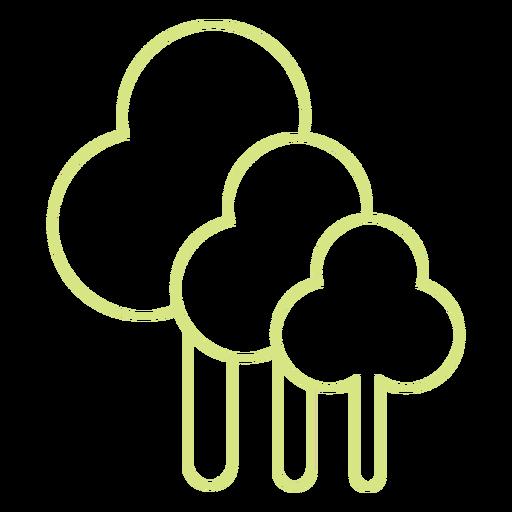 Icono de estilo de línea de Tress Transparent PNG