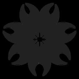 Icono de flor exótica tropical