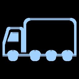 Icono de estilo de línea de camión