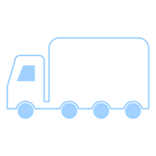 Truck line style icon