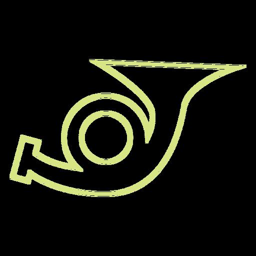 Vetor de estilo de linha de trompete Transparent PNG