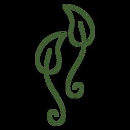 Icono de dos hojas