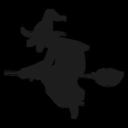 Silhueta feia de bruxa