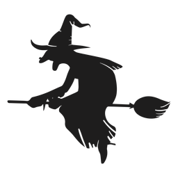 Ugly witch silhouette