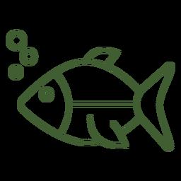 Unterwasser-Fisch-Symbol