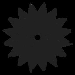 Einzigartiges Blumen-Symbol