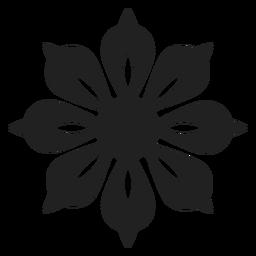 Einzigartige Blütenblatt Blume Symbol