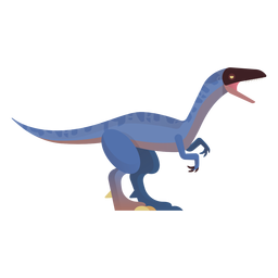 Vetor de dinossauro velociraptor