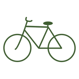 Bicicleta de ícone de bicicleta vintage