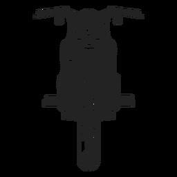 Vintage Motorrad-Symbol