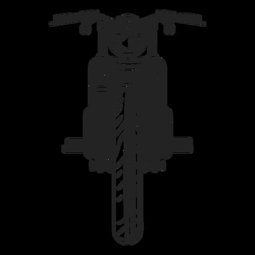 Vintage motorbike icon