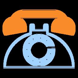 Icono de estilo de línea telefónica vintage
