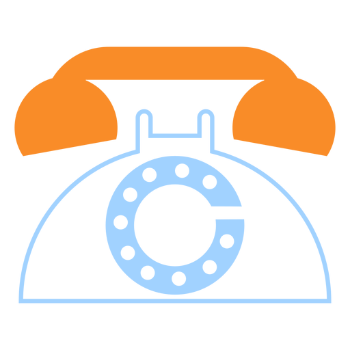 Vintage telephone line style icon Transparent PNG