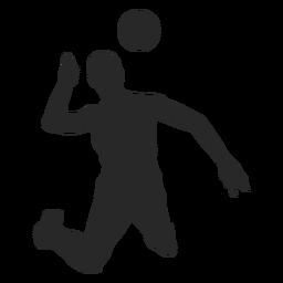 Silueta de ataque de voleibol